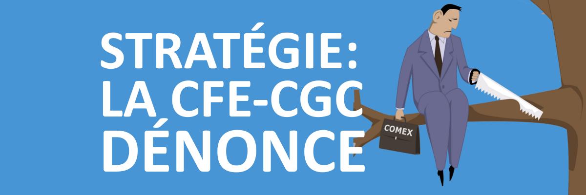 Stratégie : la CFE CGC dénonce