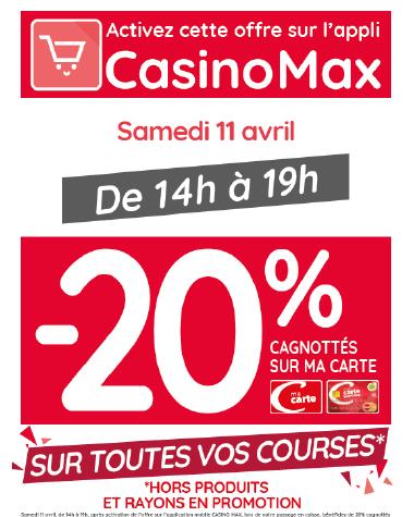 Promo CasinoMax du 11/04/2020